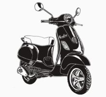 Modern Scooter Illustration by GASOLINE DESIGN