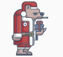 Grumpy Christmas Bear One Piece - Short Sleeve