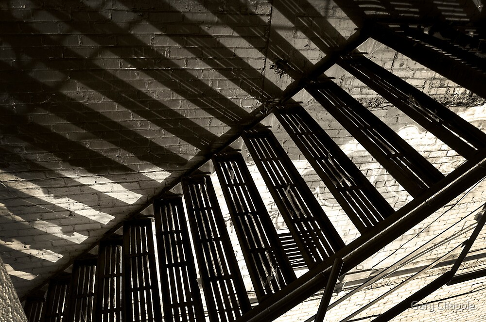 Stairs Shadows by Gary Chapple
