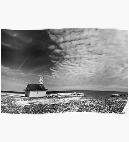Leuty Lifeguard House In The Winter Poster