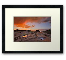 Sunset Puddles Framed Print
