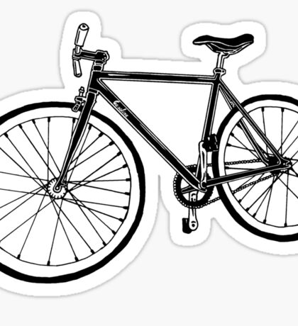 Bicycle Illustration Sticker