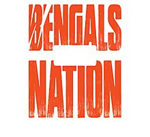 BENGALS WHO DEY NATION Photographic Print