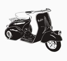 Classic Scooter Illustration by GASOLINE DESIGN