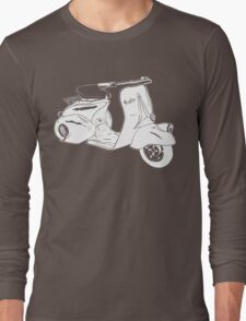 Classic Scooter Illustration Long Sleeve T-Shirt