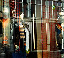 Abstract Window Reflection with Mannequins by luvdusty