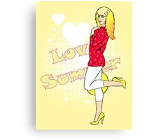 Love Summer Canvas Print