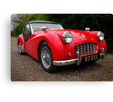 Triumph TR3 Sports Car Canvas Print
