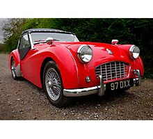 Triumph TR3 Sports Car Photographic Print