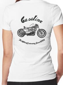Gasoline Scooters & Motorcycles Women's Fitted V-Neck T-Shirt