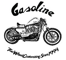 Gasoline Scooters & Motorcycles Photographic Print