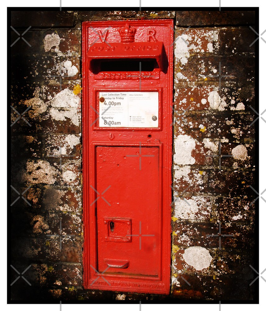 Red Rural Victorian Post Box by MarkYoung