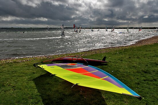 Windsurfing on Lake Grevelingen by Adri  Padmos