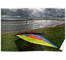 Windsurfing on Lake Grevelingen Poster