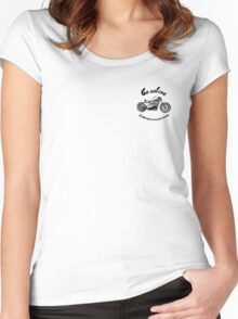 Gasoline Scooters & Motorcycles Women's Fitted Scoop T-Shirt