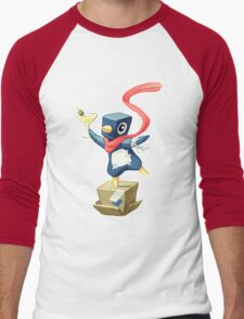 Party Penguin Men's Baseball ¾ T-Shirt