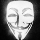 Guy Fawkes Mask Stencil by Mike Taylor
