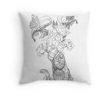 Butterfly Shrimp Throw Pillow