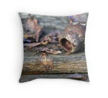 Seedpod crevices Throw Pillow