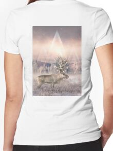 Stillness of Winter Women's Fitted V-Neck T-Shirt