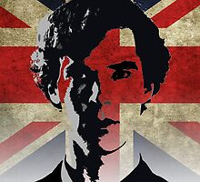Sherlock Homes  - Union Flag Ipad Case by dgoring