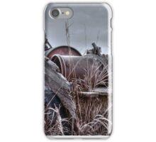Old wagon in field iPhone Case/Skin