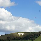 Westbury White Horse by Sally Barnett