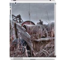 Old wagon in field iPad Case/Skin