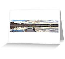 The still water from Kassasjön Greeting Card