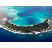 Paradise from Above - Direction Island Photographic Print
