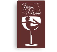 Yoga & Wine Canvas Print