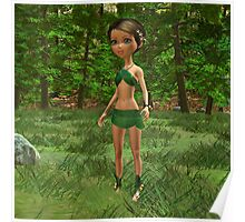 Forest Elf Girl Poster