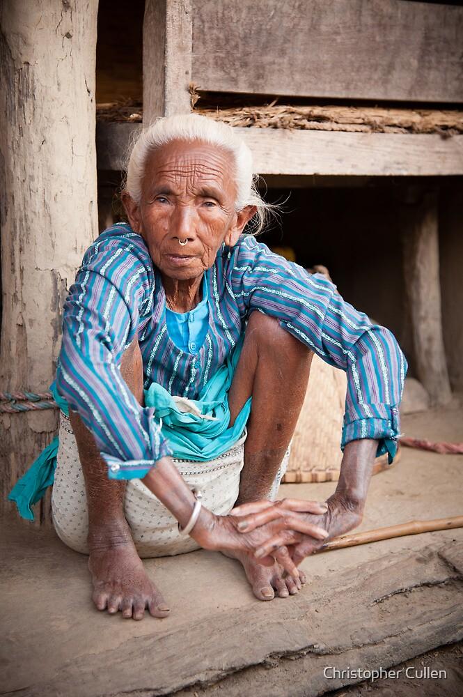 Tharu elder by Christopher Cullen