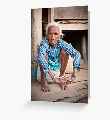 Tharu elder Greeting Card