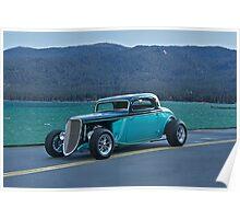 1934 Ford - Tahoe Shoreline Poster