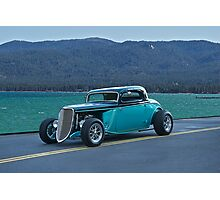 1934 Ford - Tahoe Shoreline Photographic Print