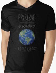 Pale Blue Dot Mens V-Neck T-Shirt