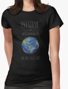 Pale Blue Dot Womens Fitted T-Shirt