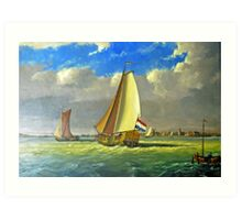 Sailing Dutchman Art Print