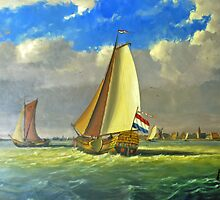 Sailing Dutchman by Arie Koene