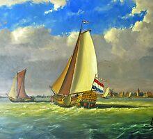 Sailing Dutchman by Arie Koene