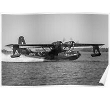 Catalina Landing - B&W Poster
