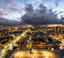 Roof Top Storms - Adelaide, South Australia by Oliver Winter