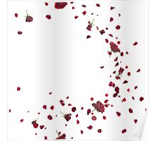 Passionate Red Roses Breeze Poster