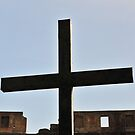 Simple cross at the Colosseum, Rome, Italy by buttonpresser