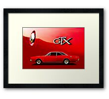 Red Dodge GTX Coupe poster Framed Print