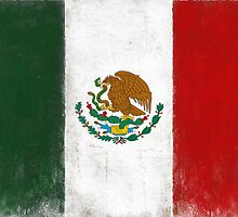 Distressed Greeting and Postcard with Mexico Flag by Geezon