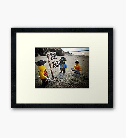 Claiming the new secret beach Framed Print
