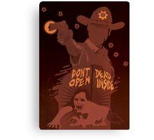 The Walking Dead Satirical Fan Art - Rick Canvas Print