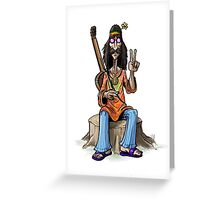 Hippie Greeting Card